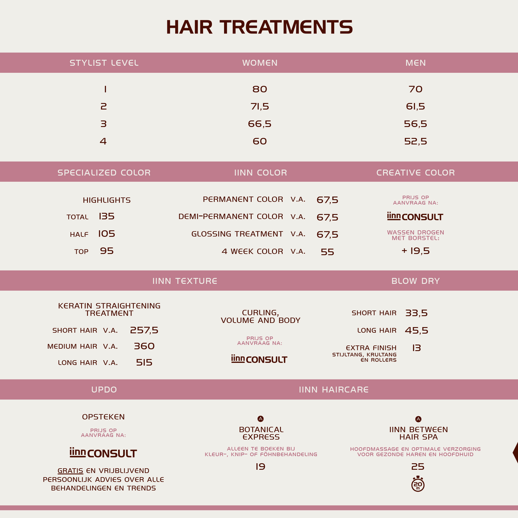 iinn - sustainable beauty - hair treatments