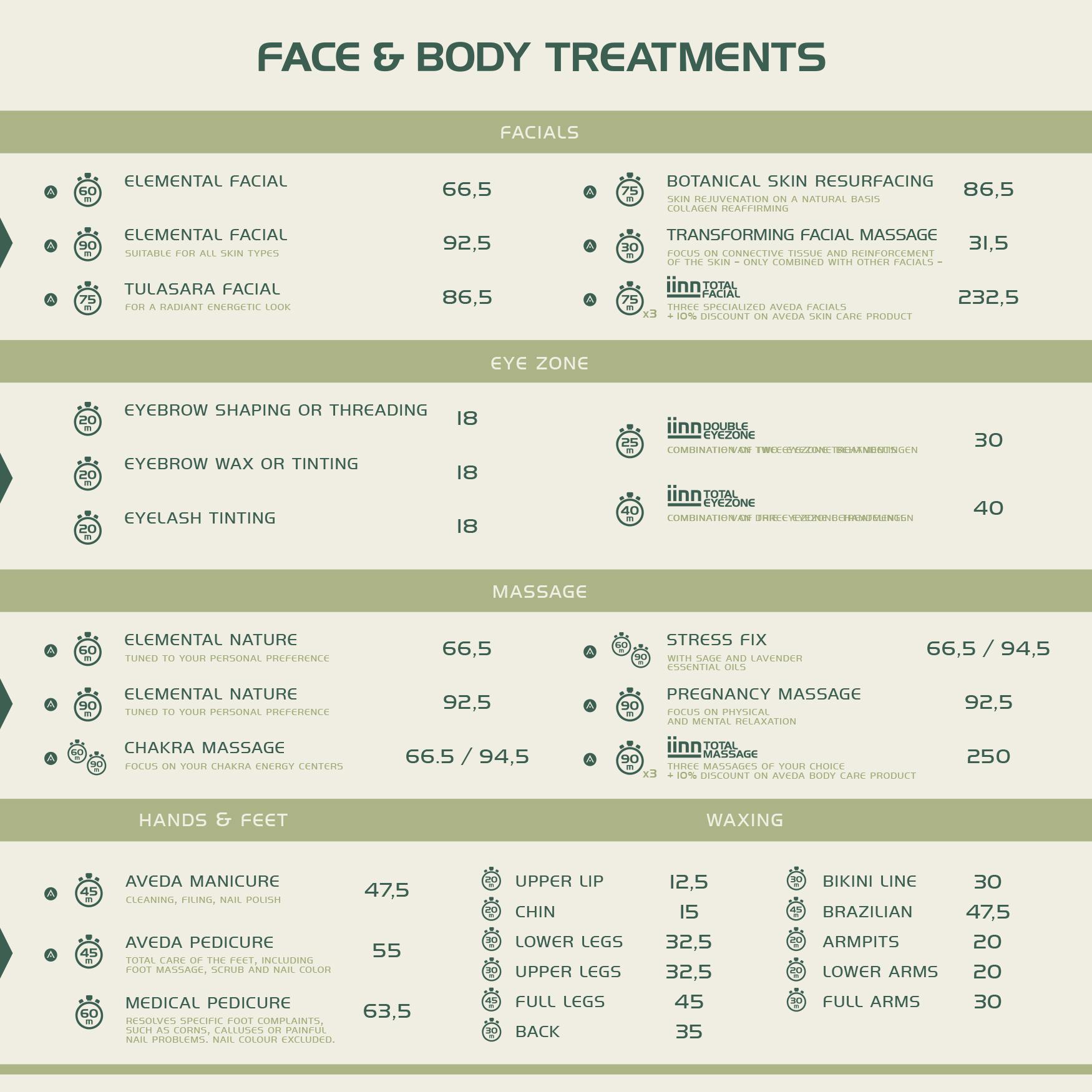 iinn - sustainable beauty - face & body treatments