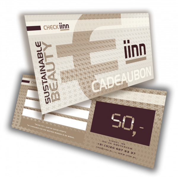 iinn — sustainable beauty cadeaucheque t.w.v. € 50.-